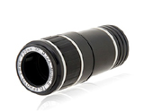 12X Long-focus Lens Telescope for iPhone 5 -Black