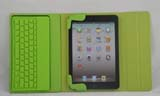 2-in-1 Bluetooth Keyboard + Skin Leather Case for iPad Mini -Green