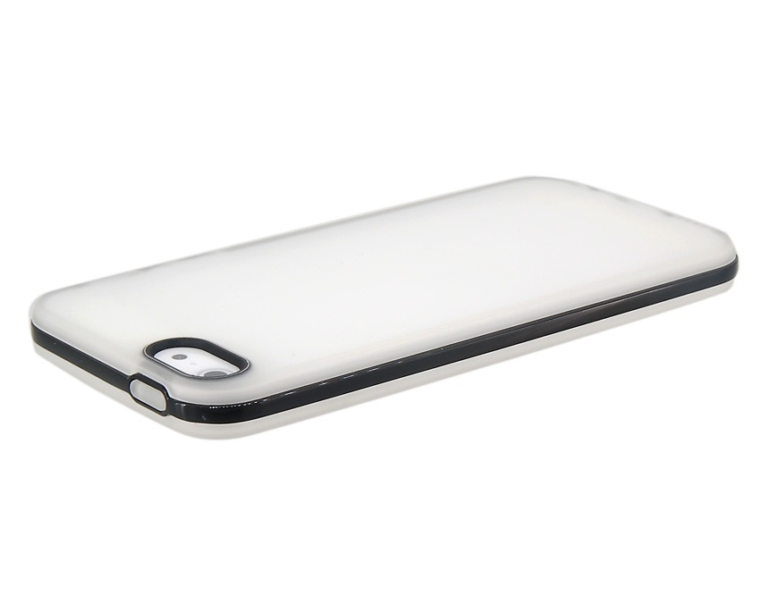 2 in 1 Matte Protective Case for iPhone 5 -White