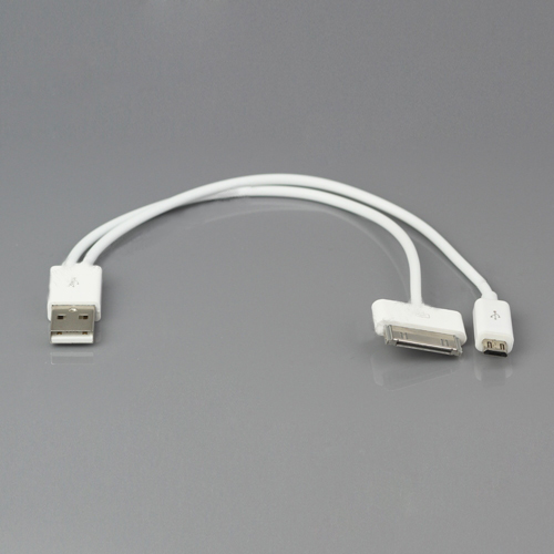 2 in 1 USB Data Sync Charger Cable for iPad for iPhone iPod for Samsung BlackBerry HTC