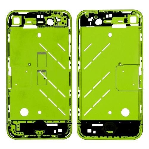 Metal Middle Plate Housing Faceplates Cover for iPhone4S -Green (Buttons/Screw/Sim Card Tray