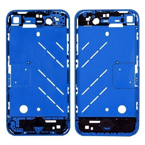 Metal Middle Plate Housing Faceplates Cover for iPhone4S -Blue (Button/Screw/Sim Card Tray)