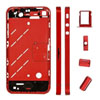 Metal Middle Plate Housings Faceplates Cover for iPhone 4S -Red