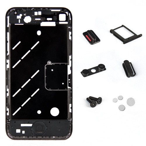 Metal Middle Plate Housings Faceplates Cover for iPhone 4S -Black