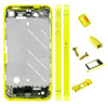 Metal Middle Plate Housing Faceplates Cover for iPhone 4S -Yellow