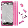 Metal Middle Plate Housing Faceplates Cover for iPhone 4S -Pink