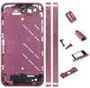 Metal Middle Plate Housing Faceplates Cover for iPhone 4S -Purple (+Button/Screw/Sim Card Tr