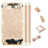 Metal Middle Plate Housing Faceplates Cover for iPhone4S -Gold (+Button/Screw/Sim Card Tray)