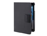 360 Rotation Flip Case with Stand for iPad Mini ( PU+Plastic material) -Black