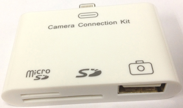 3-in-1 Camera Connection Kit Card Reader + USB Hub for iPad Mini