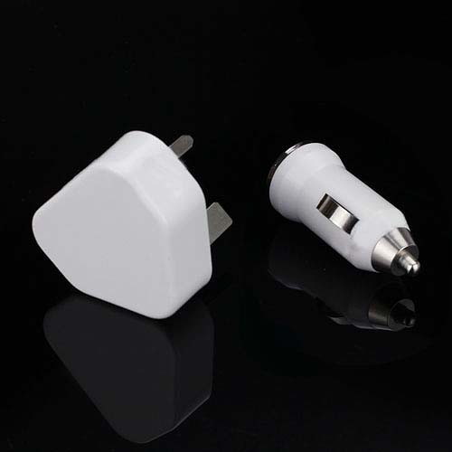 3 in 1 USB Wall & Car Charger + Lightning Cable Travel kit for iPhone 5 iPod Touch 5, Nano 7