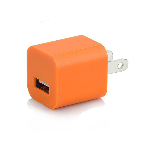 3 in 1 US Plug Car Travel Charger Kit for iPhone 5 - Orange