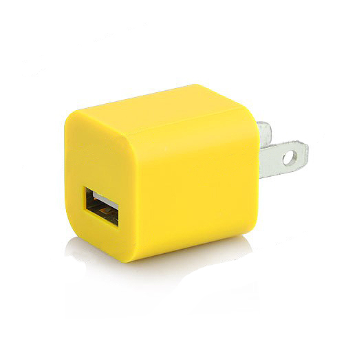 3 in 1 US Plug Car Travel Charger Kit for iPhone 5 - Yellow