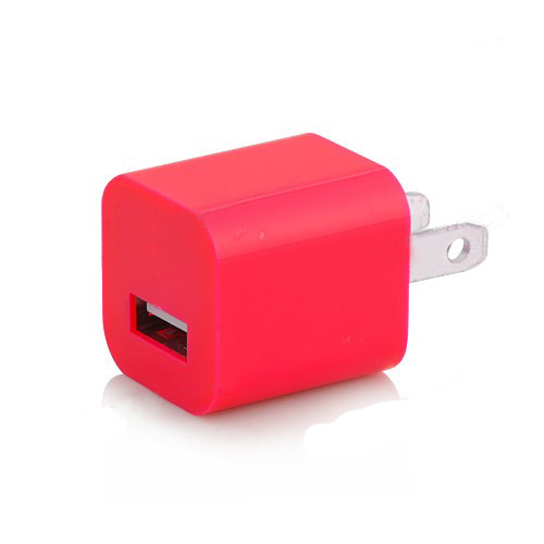 3 in 1 US Plug Car Travel Charger Kit for iPhone 5 - Red