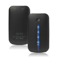 4000mAh Portable Battery Charger Station for iPhone iPad Smartphone - Black