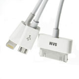 4 In 1 USB Data Sync Charger Cable for iPhone iPad iPod for Samsung Phone for Samsung Tablet