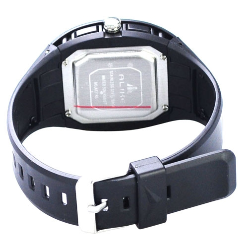 50M Waterproof Sport Watch with Dual Movement/Stopwatch/CHM/Alarm/SPL/EL Backlight -Black
