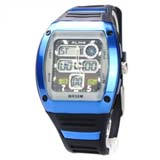 50M Waterproof Sport Watch with Dual Movement/Stopwatch/CHM/Alarm/SPL/EL Backlight -Blue