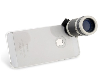 6X Zoom Lens Telescope for iPhone 5 -Black
