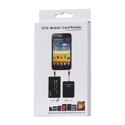 6 in 1 Micro USB OTG Memory Card Reader for Samsung i9300 Galaxy S3 III i9100 i9220 Nokia 80