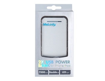7000mah Dual USB Mobile Power Supply for iPhone, iPod, iPad, Nokia, for Samsung, Moto, HTC,