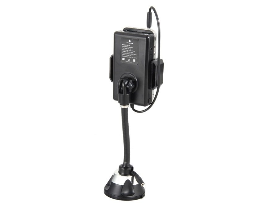 8-868C FM Hands Free Car Kit and FM Transmitter for Cell Phone or MP3/MP4 Player -Black
