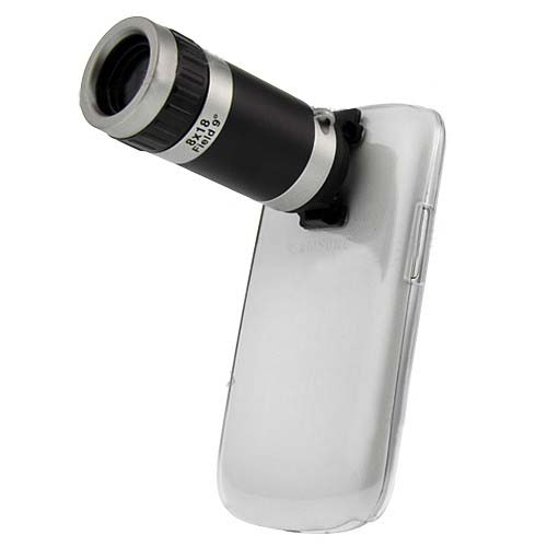 8X Zoom Camera Telescope Lens With Clear Case Cover for Samsung Galaxy S3 Mini I8190