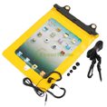 Waterproof Bag Case with Strap + Earphone for iPad 1 Gen 2 - Yellow