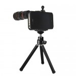 Optical 8X Zoom Lens Camera Telescope for iPhone 4 4S - Black