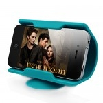 Fancy Silicone Made Mobile Phone Stand - Blue