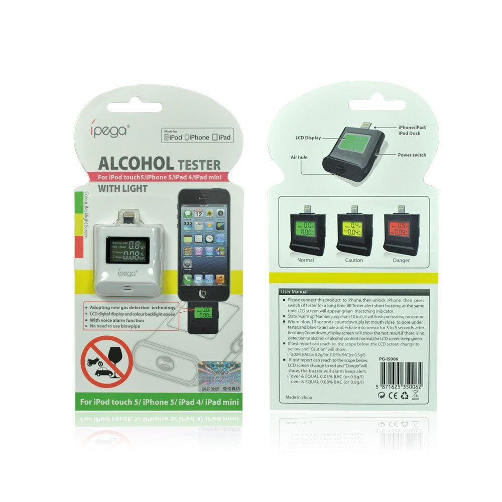Alcohol Tester with Light for iPhone 5