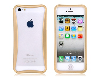 Arc Design Metal Frame for iPhone 5 -Golden