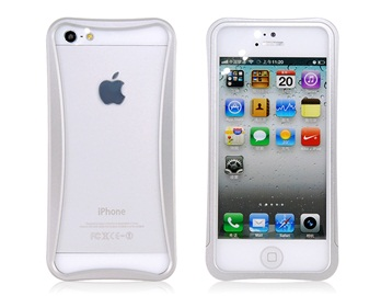 Arc Design Metal Frame for iPhone 5 -Silver