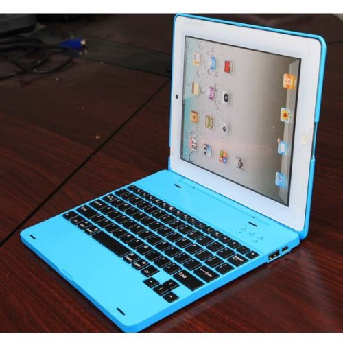Bluetooth Keyboard Back Cover Case 4000mah battery for iPad2/3/4