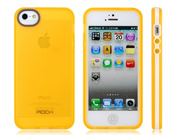 Both Sides Matte Processing TPU Protective Case for iPhone 5 -Orange
