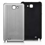 Brush Aluminum Metal Battery Back Cover for Samsung Galaxy Note i9220 GT-N7000 - Silver