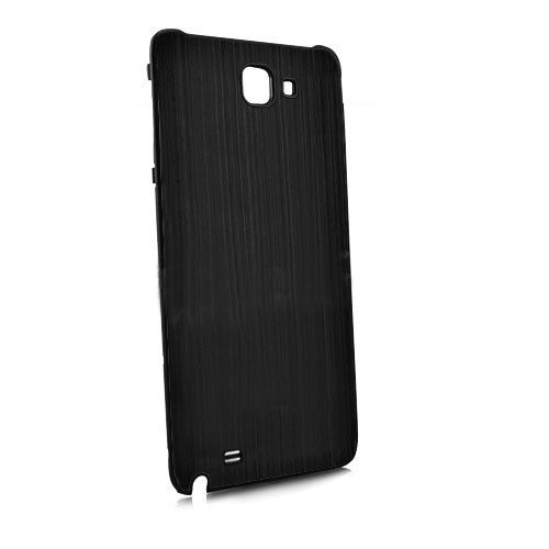 Brush Aluminum Metal Battery Back Cover for Samsung Galaxy Note i9220 GT-N7000 - Black