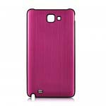 Brush Aluminum Metal Battery Back Cover for Samsung Galaxy Note i9220 GT-N7000 - Magenta