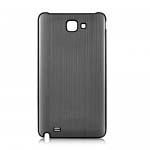Brush Aluminum Metal Battery Back Cover for Samsung Galaxy Note i9220 GT-N7000 - Gun metal
