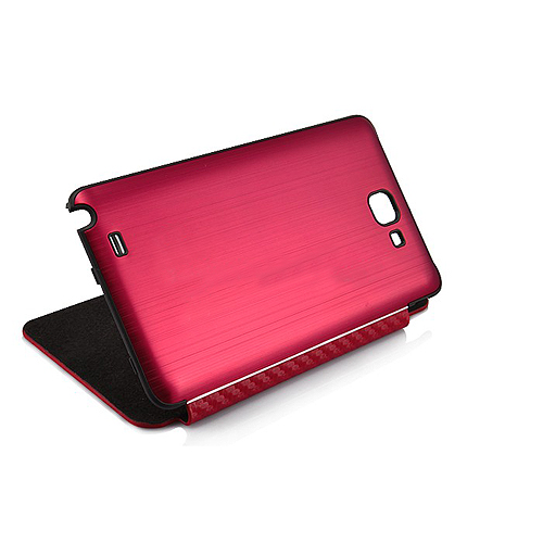 Brushed Metal Battery Back Cover With Mat Texture Front Flip Cover for Samsung Galaxy Note i