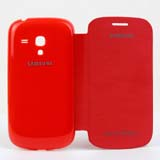 Color 9300 Mini Leather Sheath for Samsung -Red