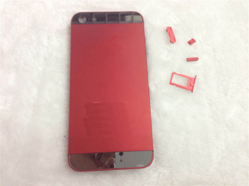 Electroplating for iPhone 5 Middle Frame Bezel Chassis Housing Faceplates +Buttons -Red