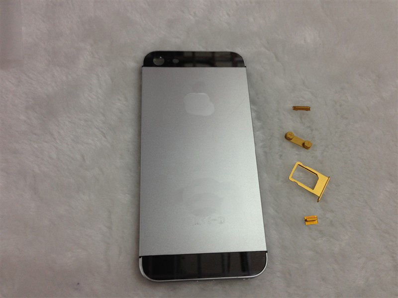 Color Plated for iPhone 5 Case Middle Frame Chassis Housing Faceplates -Grey