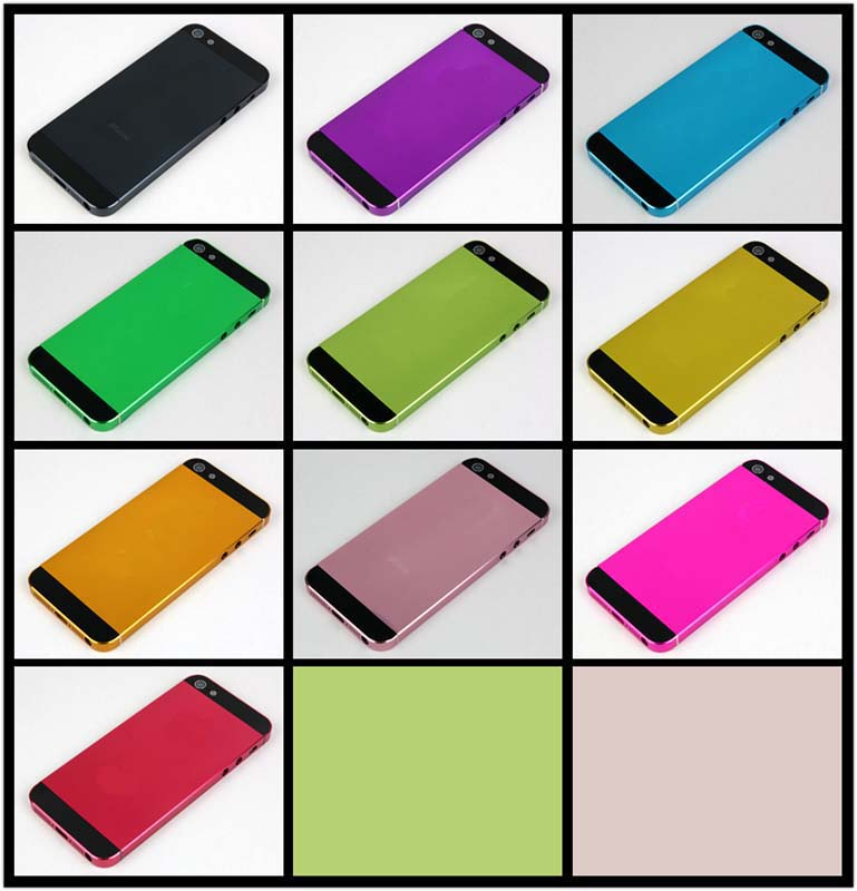 Colorful Electroplated for iPhone 5 Middle Frame Back Cover Housing Faceplates