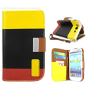 Colorful Leather Case Cover Pouch for Samsung i9300 Galaxy S III -5 Pattern -Yellow/Black