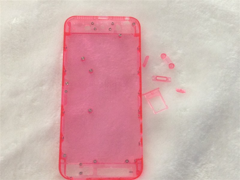 Colorful Transparent for iPhone 5 Case Middle Frame Chassis Housing Faceplates