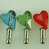 Heart-shaped Dust-proof Diamond Earphone Jack Plug for iPhone4/for iPhone4S