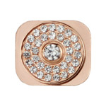 Diamante Home Button Key Replacement for iPhone 5 - Rose Gold (Big Rhinestone)
