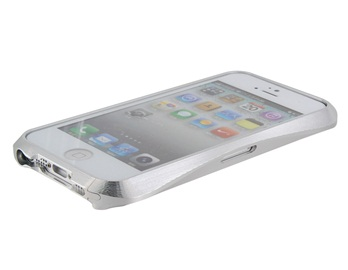 Diamond Design Metal Protective Frame for iPhone 5 -Silver