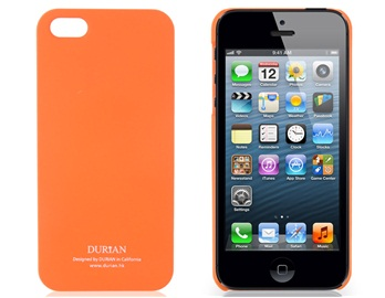 Durian Matte Protective Case for iPhone 5 -Orange